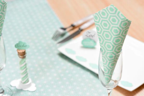 Decoration de table mint