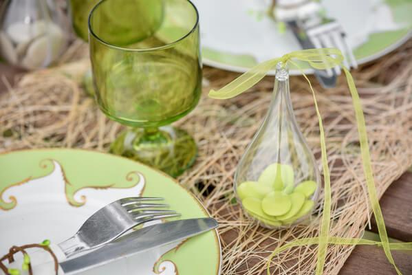 Decoration de table naturelle et vert