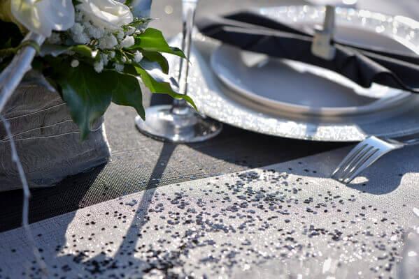 Decoration de table noel argent