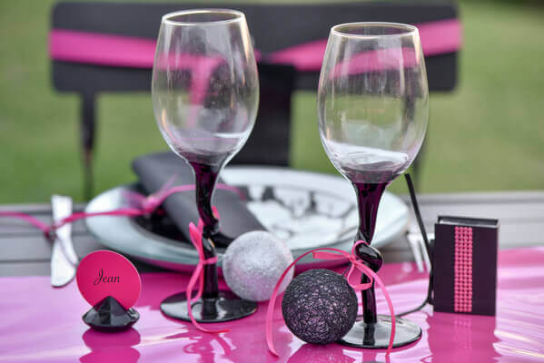 Decoration de table noire et argent
