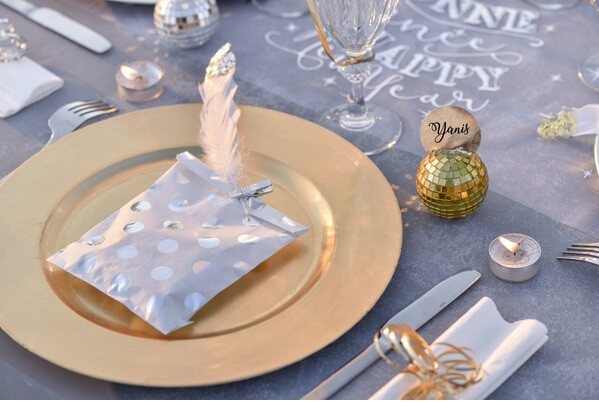 Decoration de table pois argent