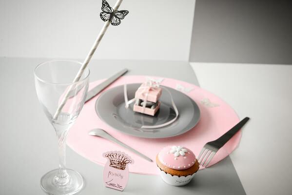 Decoration de table rose 1