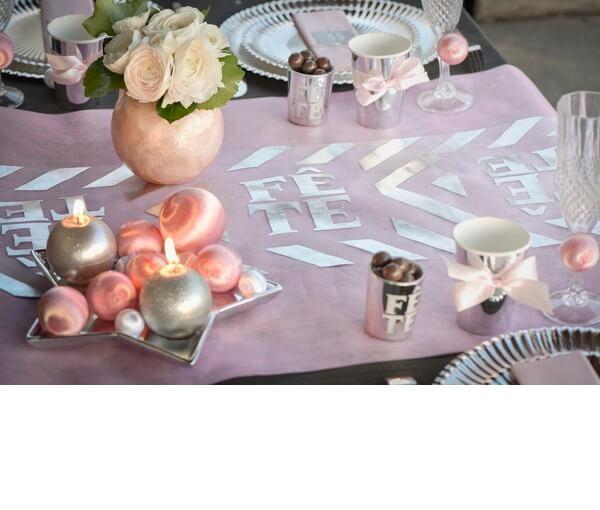 Decoration de table rose 9
