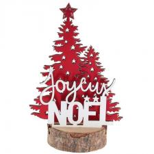 Decoration de table sapin rouge joyeux noel