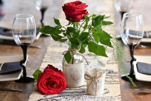 Decoration de table st valentin