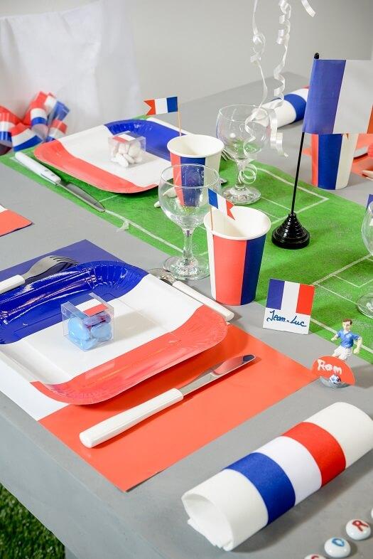 Decoration de table tricolore france