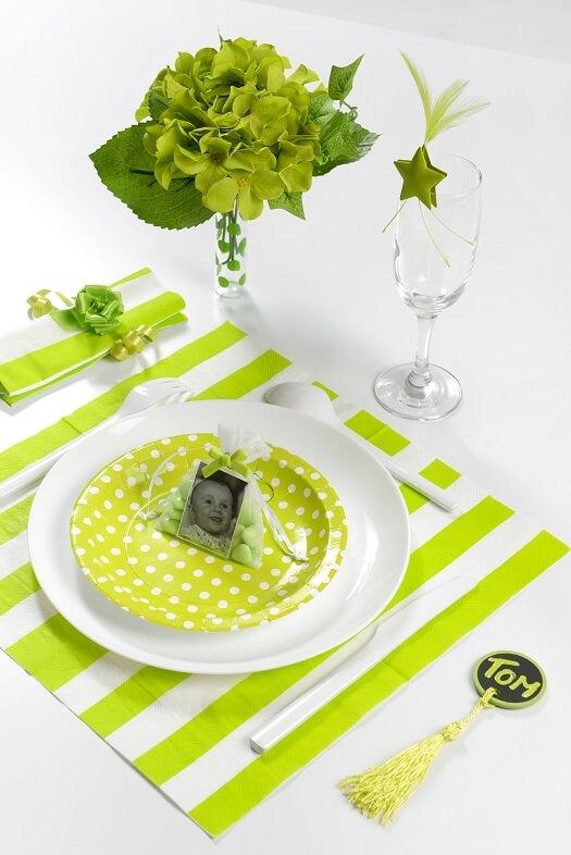 Decoration de table vert 3