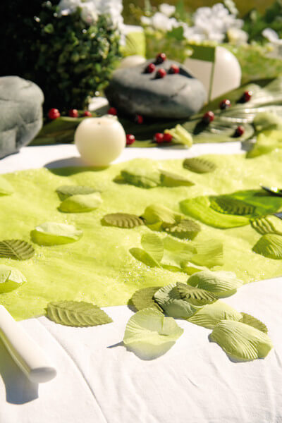 Decoration de table verte 1