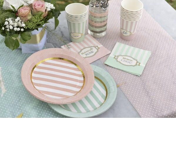 Decoration de table verte baby shower