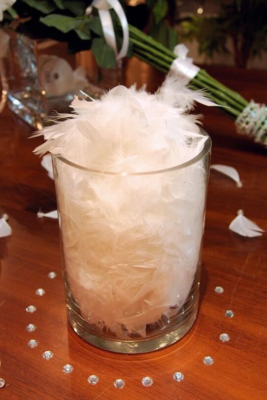 Decoration de vase avec diamant transparent