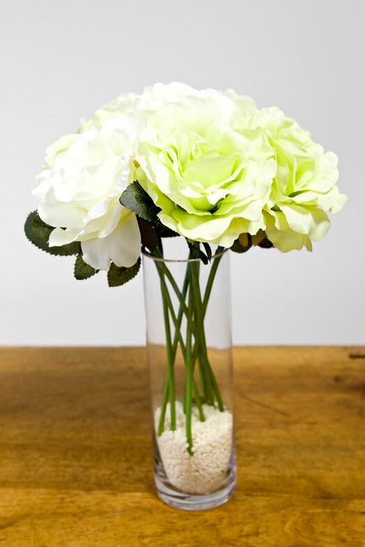 Decoration de vase en verre cylindrique