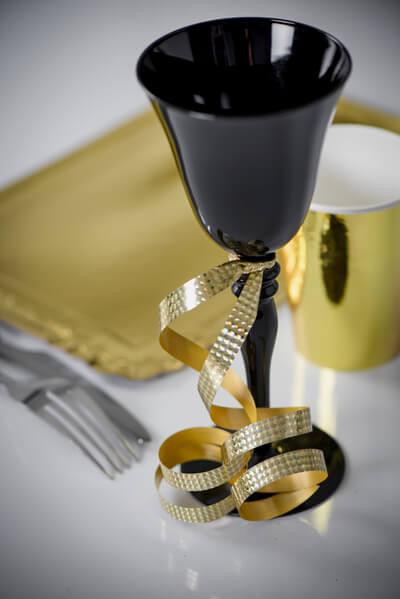 Decoration de verre avec bolduc or