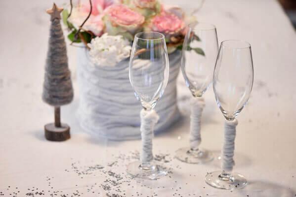 Décoration de verre blanc