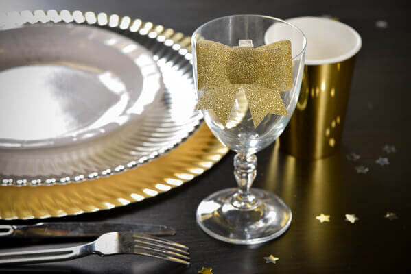 Decoration de verre or