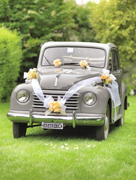 Kit de d coration voiture mariage blanc x1 ref 70189 - Decoration vehicule mariage ...
