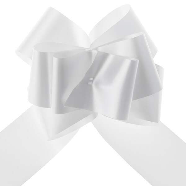 Decoration de voiture mariage avec noeud blanc
