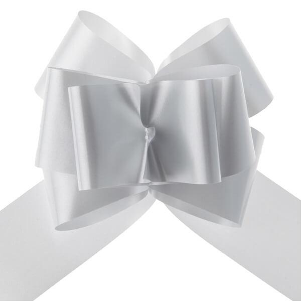 Decoration de voiture mariage avec noeud gris