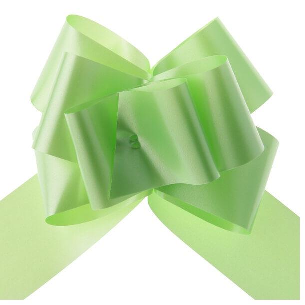 Decoration de voiture mariage avec noeud vert