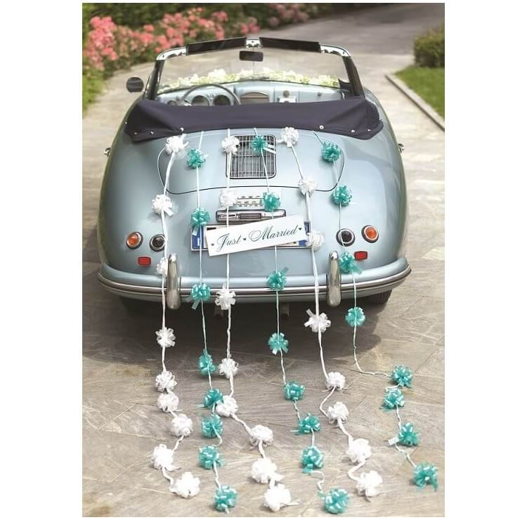 Decoration de voiture mariage avec noeud