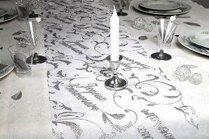 Decoration fete anniversaire blanc