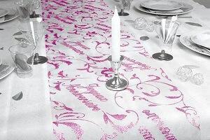 Decoration fete anniversaire rose fuchsia