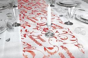 Decoration fete anniversaire rouge