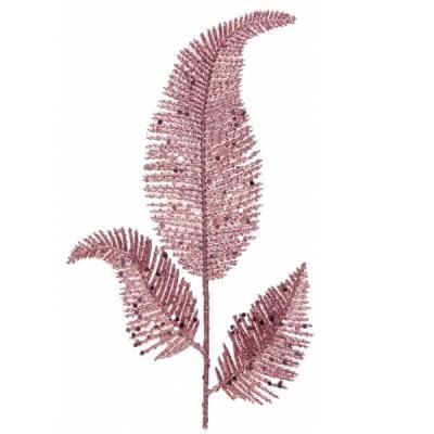 Décoration feuille de Palme rose gold avec sa tige 25cm (x1) REF/7115