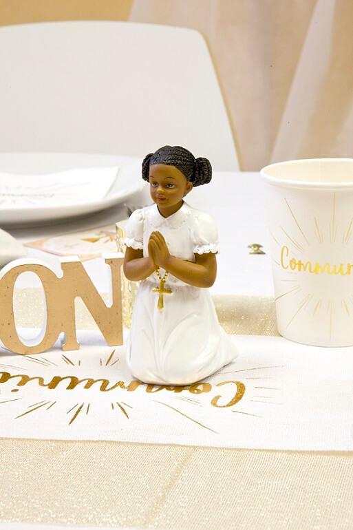 Decoration figurine en resine communion fille