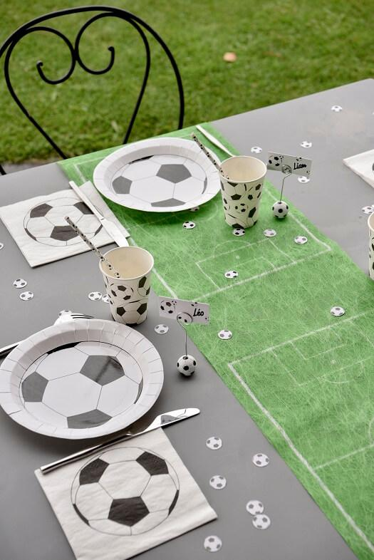 Decoration football avec assiette