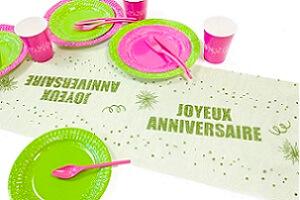Decoration joyeux anniversaire artifice