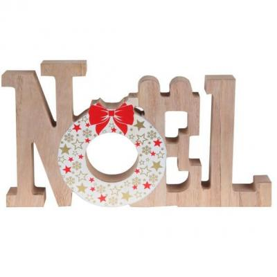 Décoration de Noël avec lettre en bois (x1) REF/7020