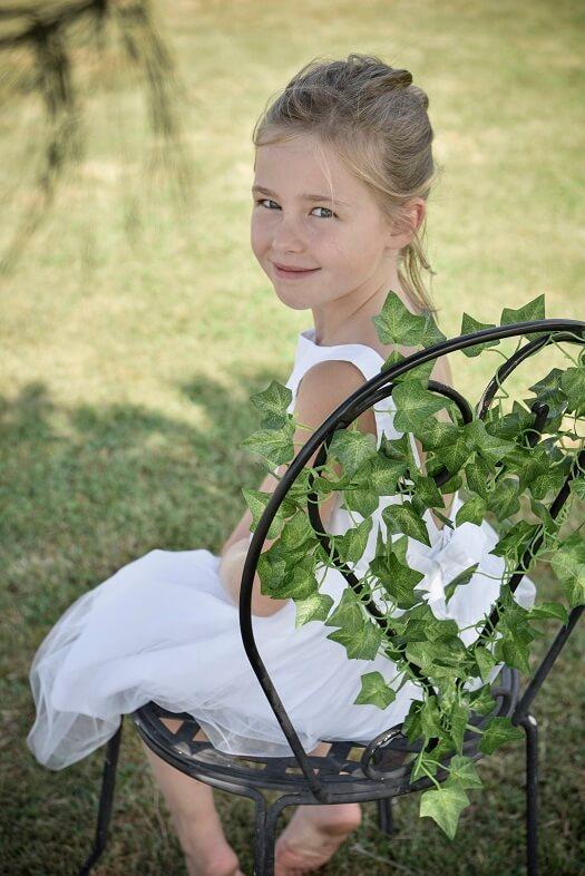 Decoration mariage avec lierre vert