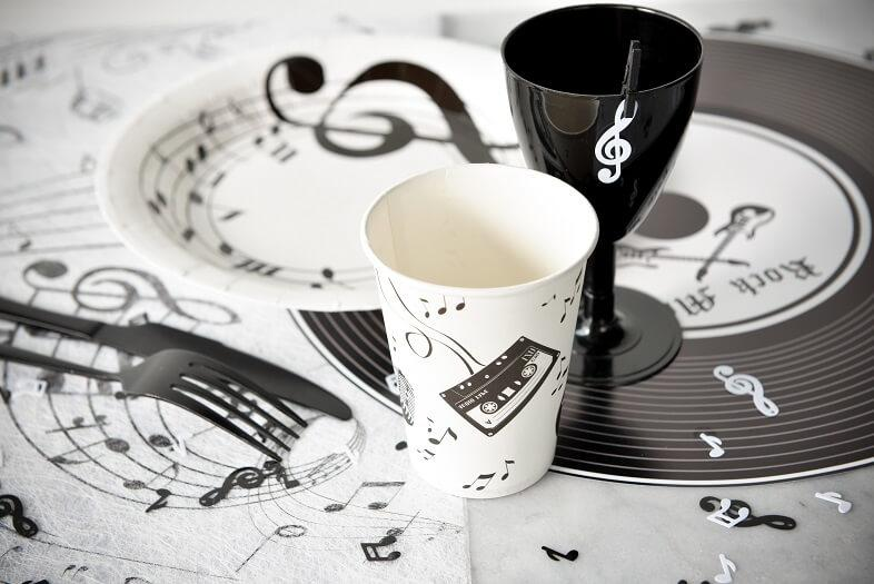 Decoration musique avec gobelet