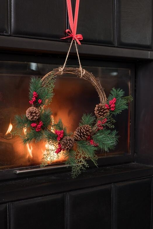 Decoration noel avec couronne bois