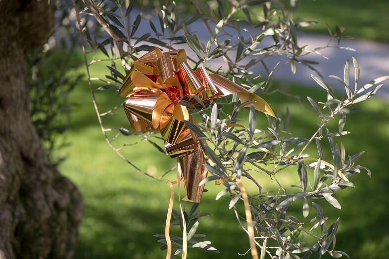 Decoration noeud automatique rose gold en 30mm