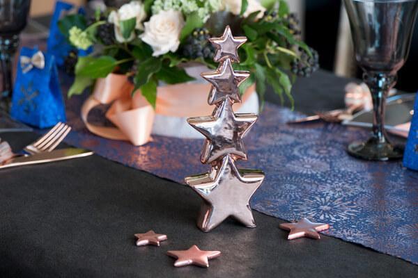 Decoration nouvel an etoile cuivre