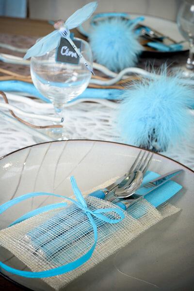 Bobine de raphia bleu turquoise x1 ref 2637 for Decoration bleu turquoise