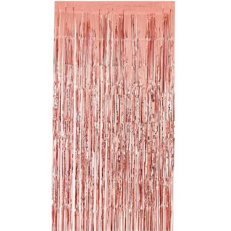 Decoration rideau de porte rose gold metallise