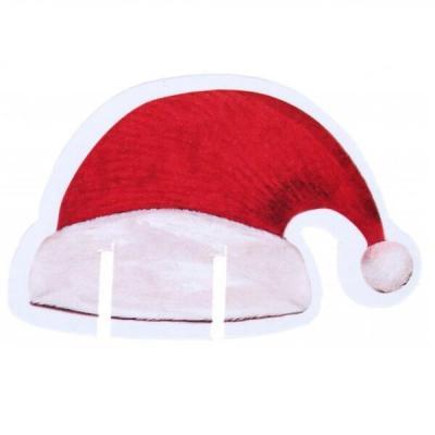 Décoration marque-verre avec bonnet rouge de père Noël (x48) REF/7165