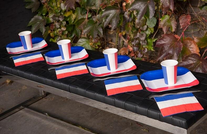 Decoration serviette de table france tricolore