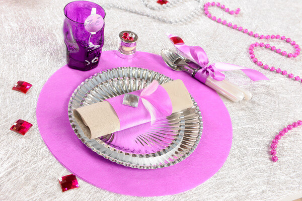 Decoration set de table parme