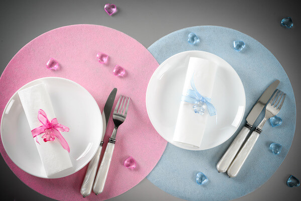 Decoration set de table rose 4
