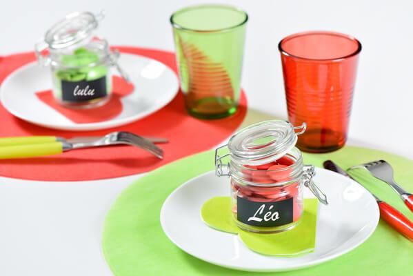 Decoration set de table rouge
