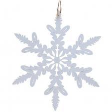 Décoration de Noël avec suspension blanche flocon en bois (x1) REF/7174