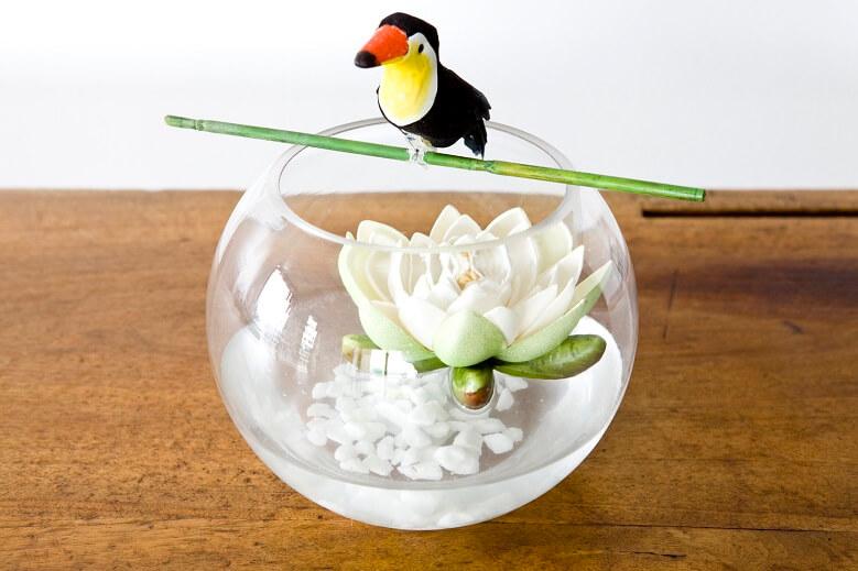 Decoration vase bocal en verre transparent