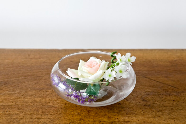 Decoration vase coupe transparente