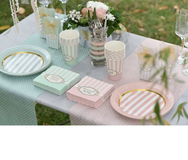 Decoration verte baby shower