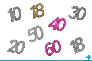 Decorations fetes anniversaires par ages 1 a 10ans