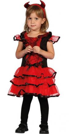 Costume Halloween 3-4ans: Diablesse (x1) REF/92357
