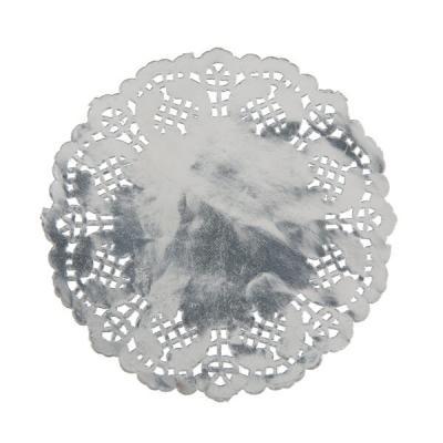 Dessous de verre dentelle argent (x10) REF/5758